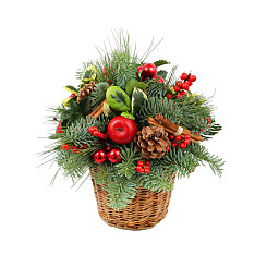 Flower bouquet Christmas Basket