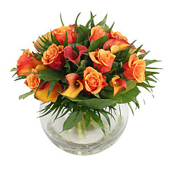 Flower bouquet Orange Deluxe