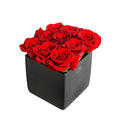 Flower bouquet Red Roses Cube