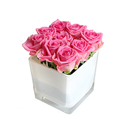 Flower bouquet Pink Roses Cube