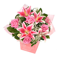 Flower bouquet Luxury pink giftbag