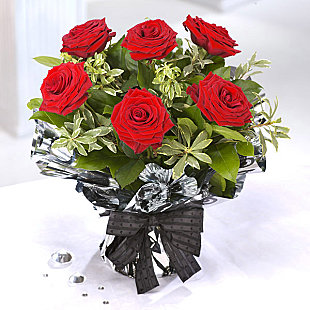 6 Red Rose Bouquet