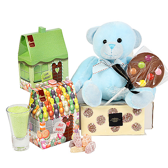Serenata Flowers Boys Sweet Teddy Gift Box Picture