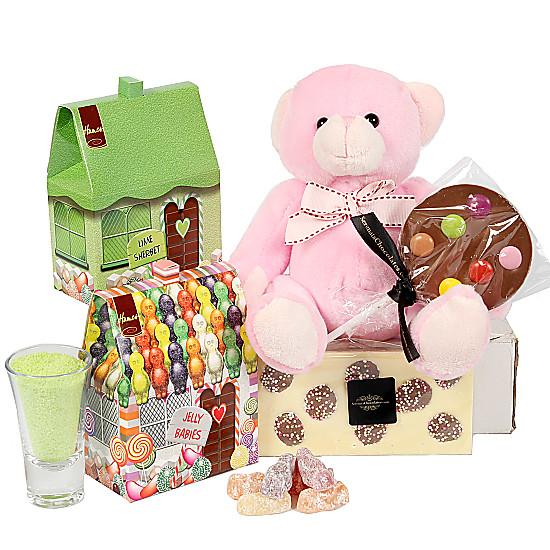 Serenata Flowers Girls Sweet Teddy Gift Box Picture