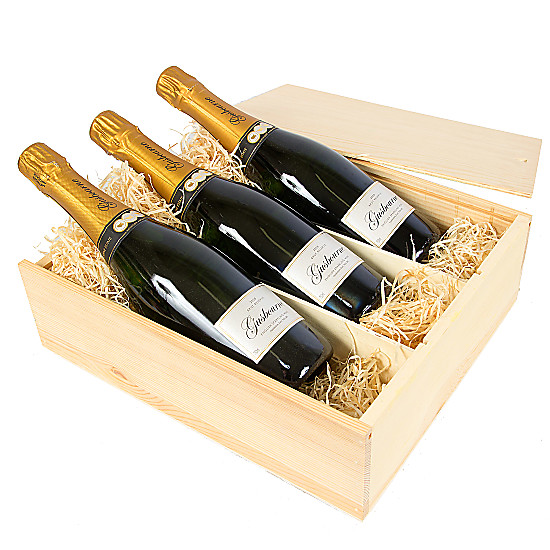 Serenata Flowers English Sparkling Wine Trio Picture