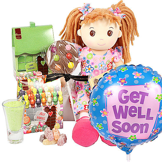 Serenata Flowers Get Well Rag Doll Gift Box Picture