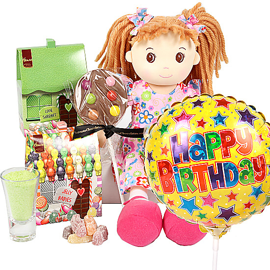Serenata Flowers Happy Birthday Rag Doll Gift Box Picture