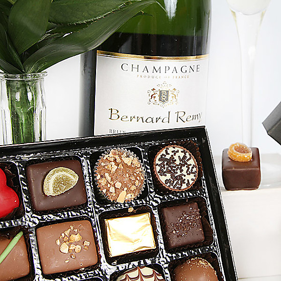 Champagne and Belgian Chocolates