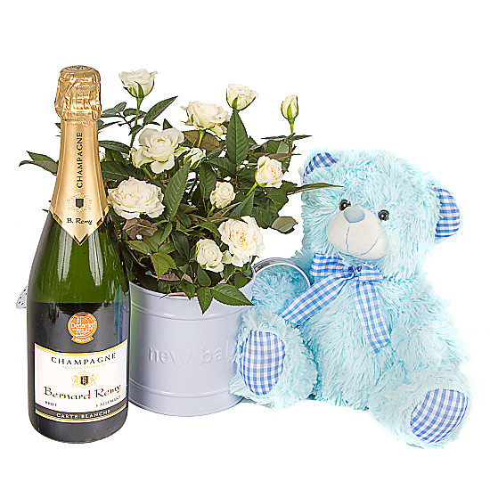 Serenata Flowers Baby Boy Rose Gift with Champagne Picture