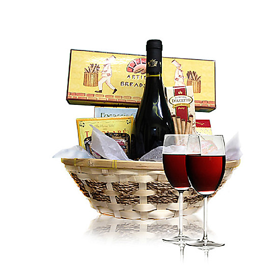 Wine and Cheese Basket