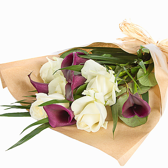 Purple Callas and Roses