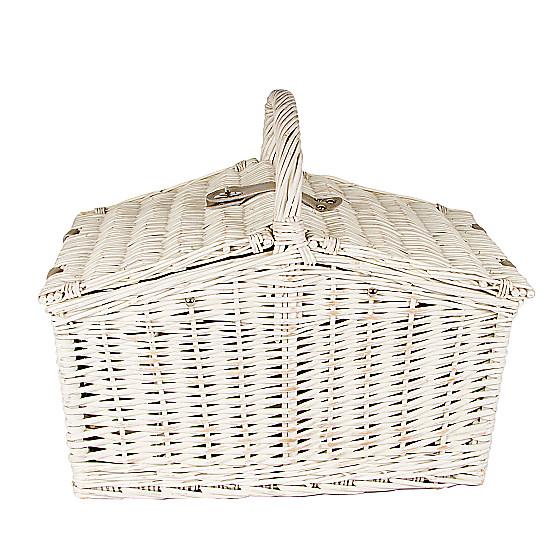 Luxury White Picnic Basket