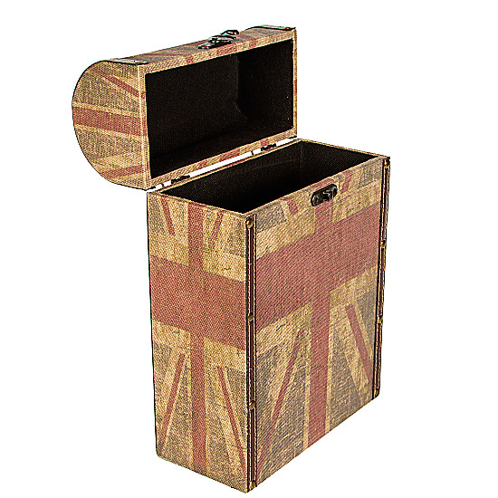 Serenata Flowers Union Jack Wine Box Picture