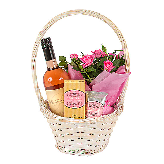 Serenata Flowers Gift Basket with Rose Petal Hand Cream Picture