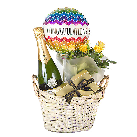 Serenata Flowers Congratulations Gift Basket Deluxe Picture