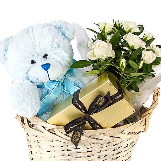 Baby Boy Gifts Delivery : Baby boy gift basket delivered next day