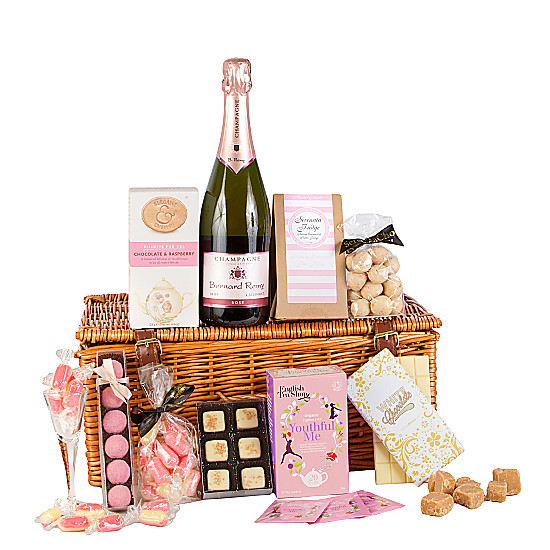 Serenata Flowers Luxury Pink Champagne Hamper Picture