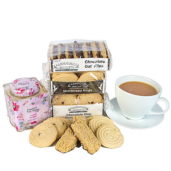 Serenata Flowers Tea and Biscuits Picture