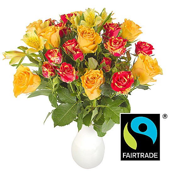 Serenata Flowers Fairtrade Fireflash Bouquet Picture