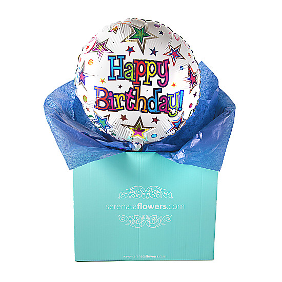 Serenata Flowers Happy Birthday Stars Balloon Gift Picture