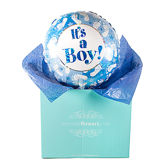 Serenata Flowers Its a Boy Footprints Balloon Gift Picture