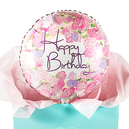 Happy Birthday Flowers Balloon Gift