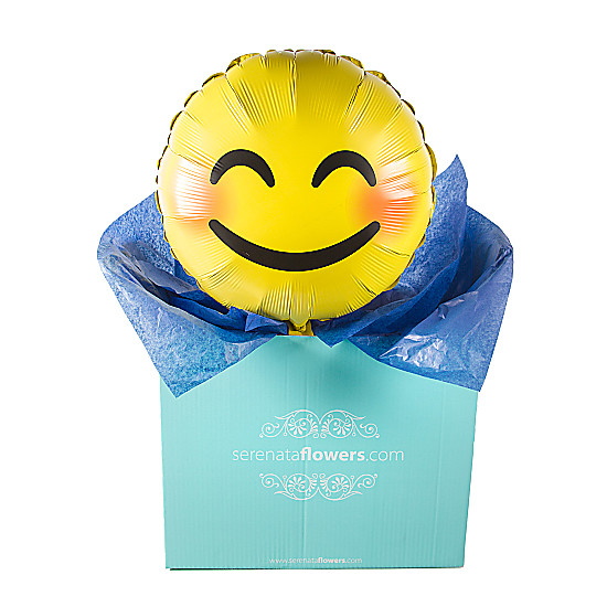 Serenata Flowers Smile Emoji Balloon Gift Picture