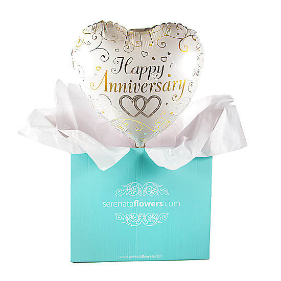 Serenata Flowers Happy Anniversary Hearts Balloon Gift Picture