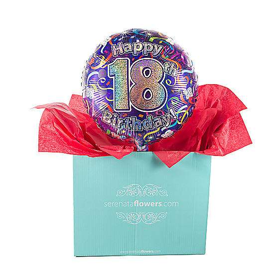 Serenata Flowers 18th Birthday Balloon Gift Picture