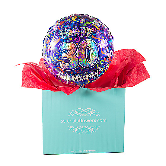Serenata Flowers 30th Birthday Balloon Gift Picture