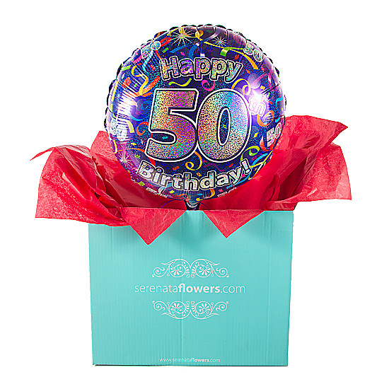 Serenata Flowers 50th Birthday Balloon Gift Picture