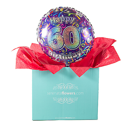 Serenata Flowers 60th Birthday Balloon Gift Picture