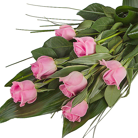 Elegant Pink Rose Sheaf