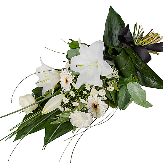 Serenata Flowers Petite White Lily Sheaf Picture