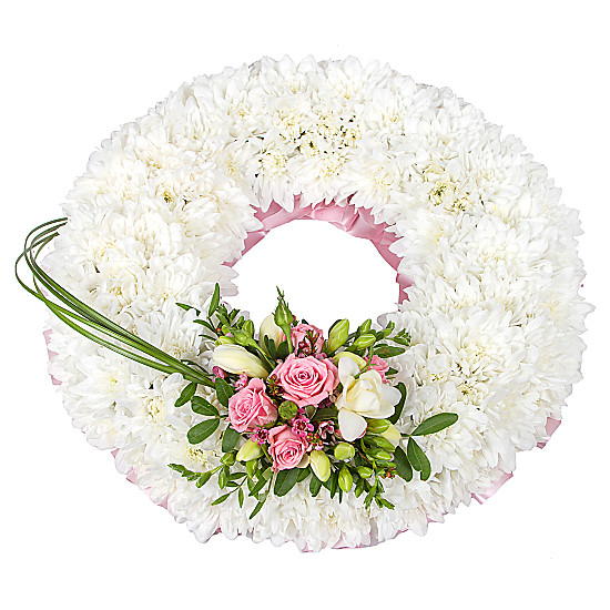 Serenata Flowers Traditional Pink Wreath Picture