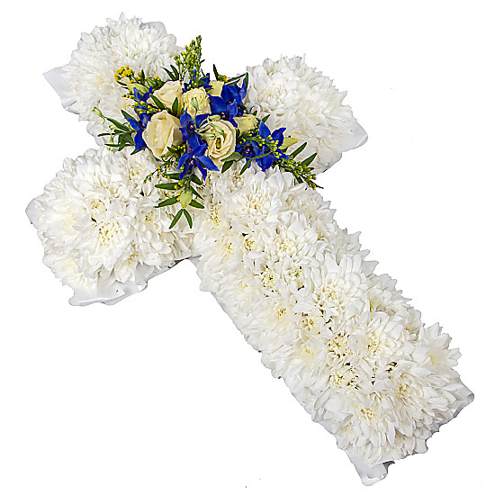 Serenata Flowers Traditional Cross Picture