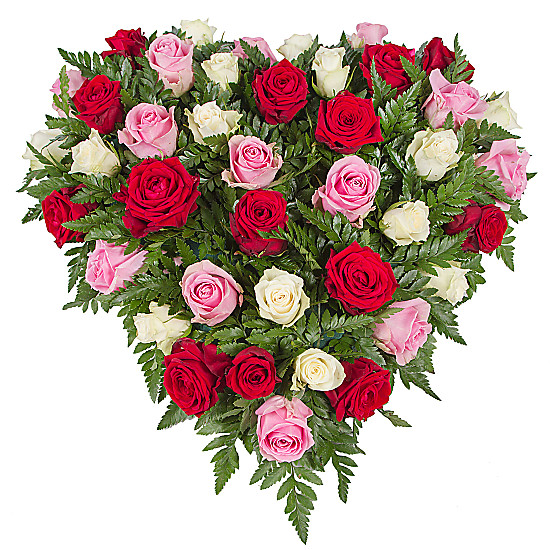 Serenata Flowers Rose Trio Heart Picture