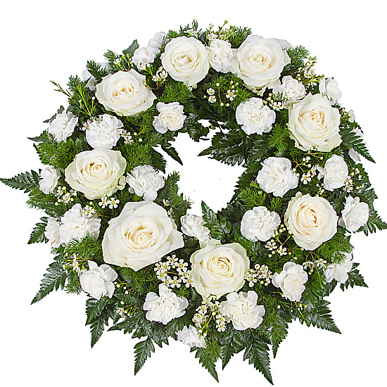 Serenata Flowers Classic White Wreath Picture