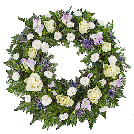 Serenata Flowers Classic Blue Wreath Picture