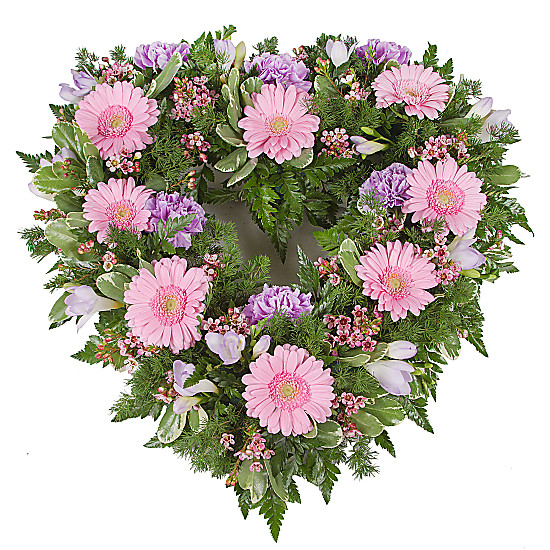 Serenata Flowers Pink Open Heart Tribute Picture