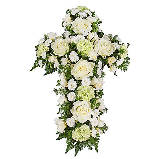 Serenata Flowers Classic White Cross Picture