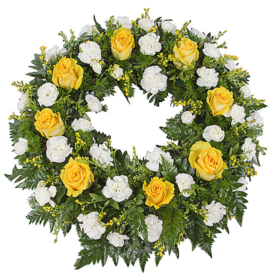 Serenata Flowers Classic Yellow Wreath Picture