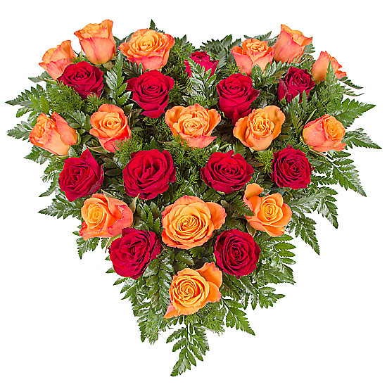 Serenata Flowers Sunset Rose Heart Picture
