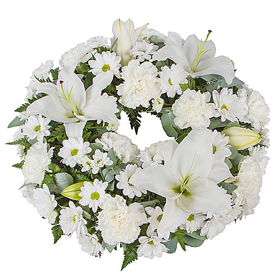 Serenata Flowers White Lily Wreath Picture