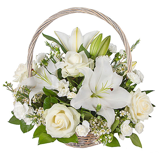 Serenata Flowers White Lily Basket Picture