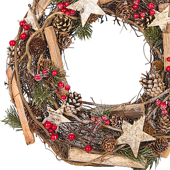 Stars and Berries Wreath