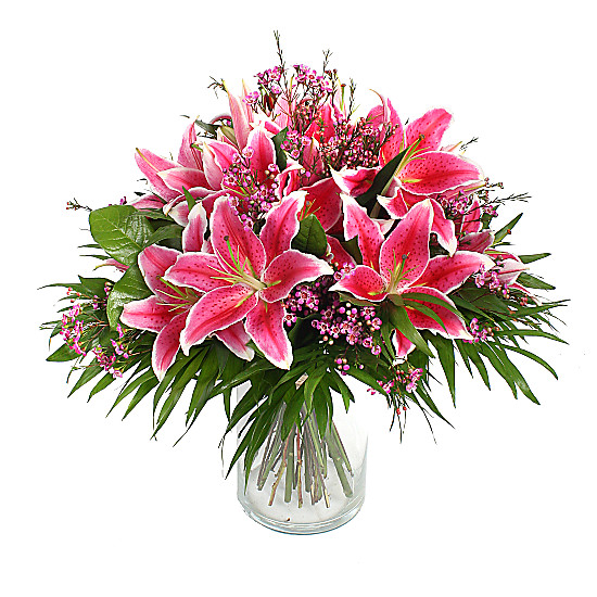 Serenata Flowers Pink Lily Bouquet Picture
