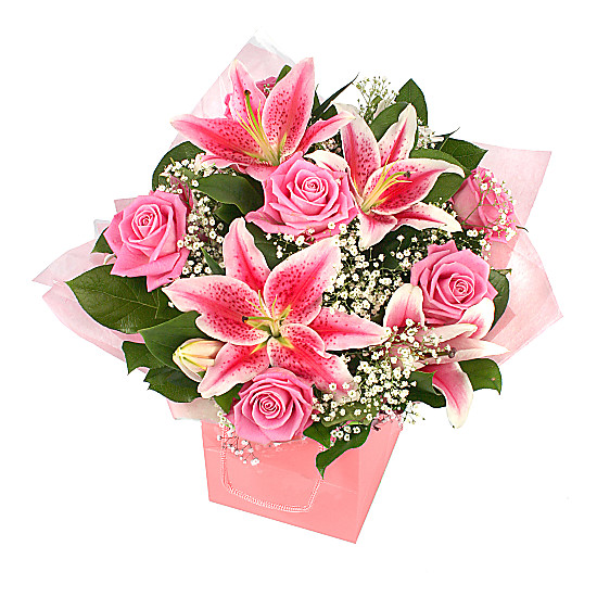 Serenata Flowers Luxury pink giftbag Picture