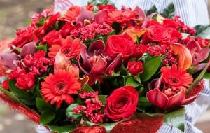 Bouquet de fleurs pour 50 ans de mariage