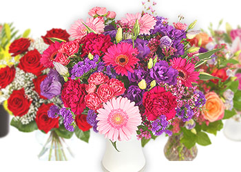 selection of bouquets